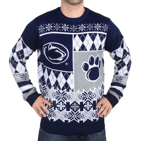 Blue And White Christmas Sweater.Penn State Ugly Christmas Sweater S Nwt Nwt